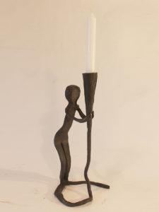 Frau-, Kerzenständer
